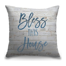 """""""Bless This House - Sentiment"""" Pillow 16""""x16"""""""