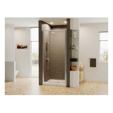 """Legend Framed Hinge Shower Door, Obscure, Chrome, 30""""x64"""""""