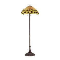 "63"" Wicker Sunflower Floor Lamp"