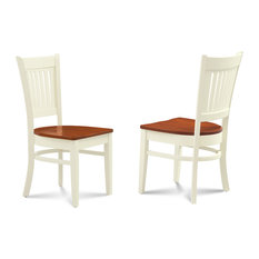 Side Chair in Buttermilk and Cherry Finish - Set of 2
