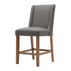 Madison Park Brody Wing Counter Stool, Grey