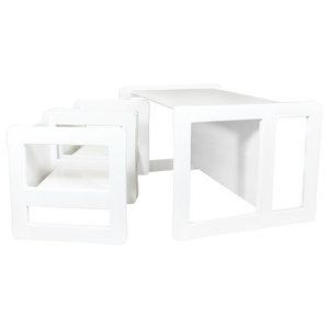 3 in 1 Kids Multifunctional 3-Piece Set, White