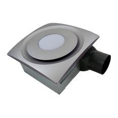 Bathroom Exhaust Fan With Led Light: Aero Pure - Aero Pure Slim Fit Bathroom Fan With LED Light, Satin Nickel,,Lighting