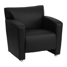 Scranton & Co Leather Chair in Black and Cherry
