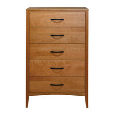 Dover 5 Drawer Chest Natural Cherry