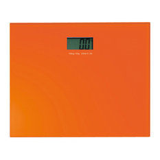 Square Orange Electronic Bathroom Scale