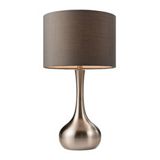 Piccadilly Touch Table Lamp, Satin Nickel