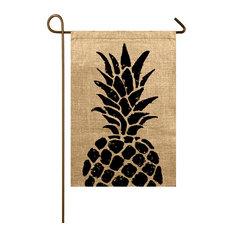 Pineapple Burlap Garden Flag