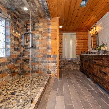 Rustic Log Cabin Master Bath