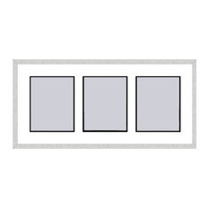 Silver Collage Picture Frame - 3 openings for 8X10 photos
