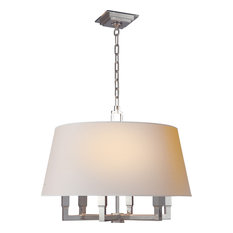 Square Tube Hanging Shade, Polished Nickel