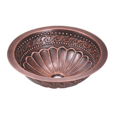 Single Bowl Copper Sink, No Additional Accessories