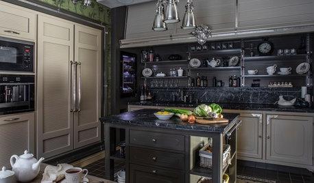 Кухня недели: С телевизором за решеткой и скрытой музыкой