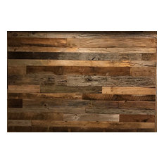 Great Vintage Timbers   Reclaimed Barnwood Wall Planks Brown/Gray Mix   Wall  Panels