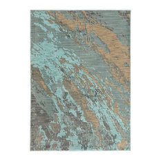 """Casa Marble Rug, Blue and Gray, 9'10""""x12'10"""""""