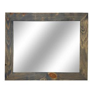 Shiplap Style Vanity Mirror, Classic Gray, 60