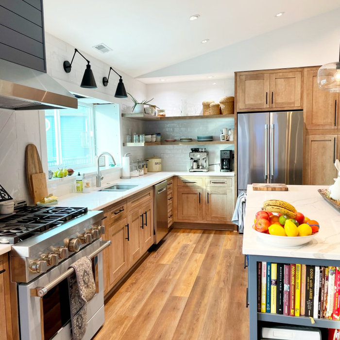 Transitional kitchen photo in Other