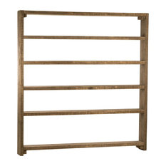 Mediterranean Large Bookcase, Natural Wood