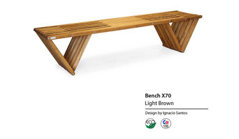 Backless solid Wood Modern Design Bench 70 by GloDea
