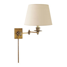 Studio VC Triple Swing Arm Wall Lamp, Hand-Rubbed Antique Brass