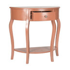 Half Moon Harp Table Traditional Console Tables By