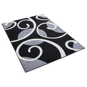 Couture Black and Grey Rectangular Rug, 200x290 cm