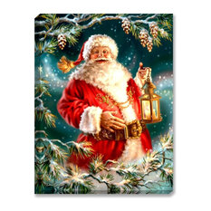 Enchanted Santa Illuminated Wall Art