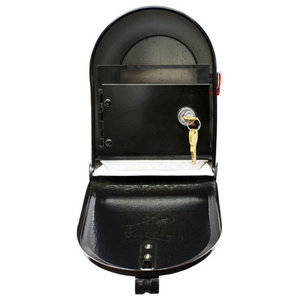 QualArc E1 Economy Mailbox Only with Locking Insert - Black