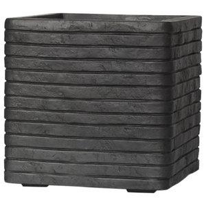 Square Resin Black Planter, 31x31x31 CM