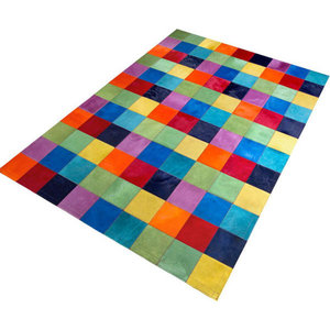 Patchwork Leather Fusion Multi Rug, 140x200 cm