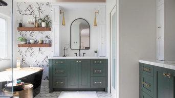 Modern Farmhouse Bathroom Nod to Nature