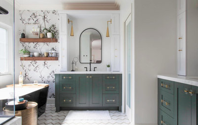 Bathroom of the Week: Modern Farmhouse and a Nod to Nature