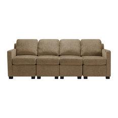 Corsa Modular Sofa Mocha Brown Herringbone