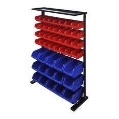 VidaXL Blue and Red Garage Tool Organiser