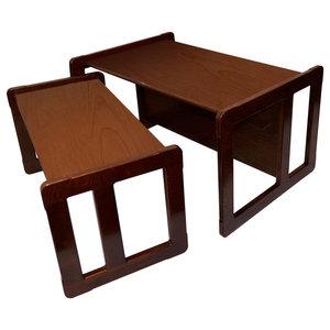 3 in 1 Adults Multifunctional Set of Coffee Tables, Dark
