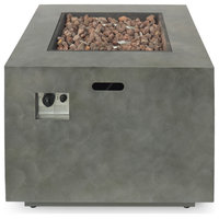 Weathered Outdoor 33-Inch Square Fire Pit
