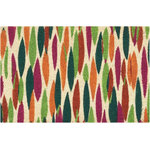 """Nourison - Waverly Greetings """"Bits n' Pieces"""" bell Doormat, Clay, 2'x3' - Create a special feeling of welcome for your entryway, porch or deck with a charming outdoor rug from the Waverly Greetings Collection for Nourison. Striking geometric patterns and festive florals in the perfect high fashion colors for today's home. Woven from natural, eco-friendly coir, these stylish accent rugs are remarkable for their thick, premium quality construction and long-lasting beauty."""
