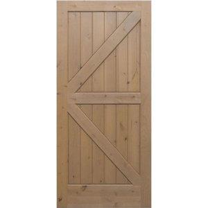 "Knotty Alder #181 Barn Door  - V-Groove Plank 2/6 x 7/0, 32""x84"""