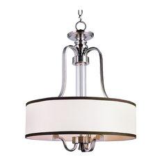 trans globe lighting brushed nickel 3 light drum pendant with fabric shade pendant lighting - Drum Pendant Lighting