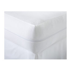 Home Collection Liquid and Bed Bug Proof Total Mattress Encasement, Queen, White