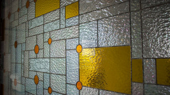 Partition and Door panels in Stained Glass