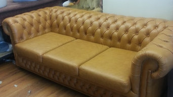 re-upholster a traditional chesterfield sofa
