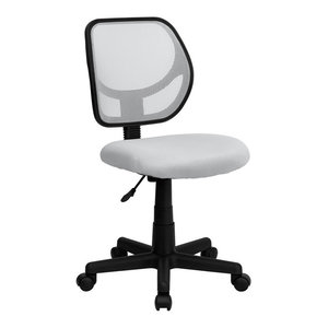 Flash Furniture Mid-Back White Mesh Task Chair And Computer Chair