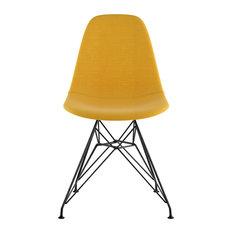 Mid Century Eiffel Side Chair Papaya Yellow