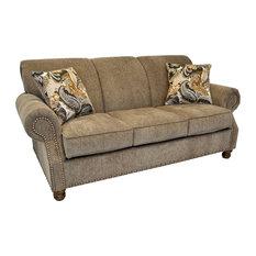 Frankie Khaki Sofa with Nailhead Trim