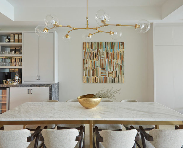 Contemporary Dining Room by E & A Interiors
