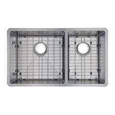 Starstar Undermount Stainless Steel Double Bowl Kitchen Sink With Accessories