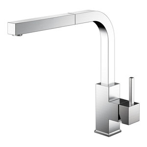 Spirit Kitchen Mixer Tap, With Spray Attachment, Brushed Stainless Steel