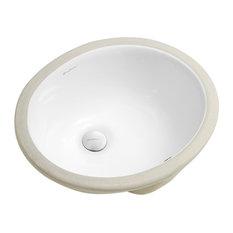 """Monaco 16.5"""" Oval Under-Mount Bathroom Sink"""