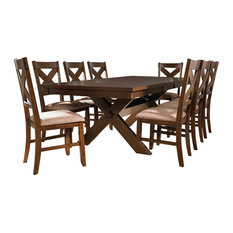 Powell Furniture   Powell Kraven 9 Piece Wood Dining Set   Dining Sets